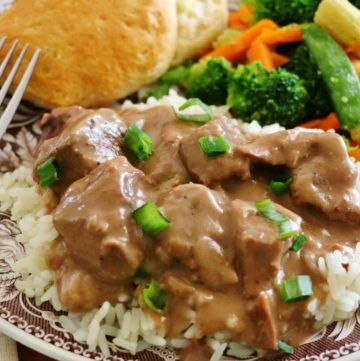 Crock Pot Beef Tips and Gravy