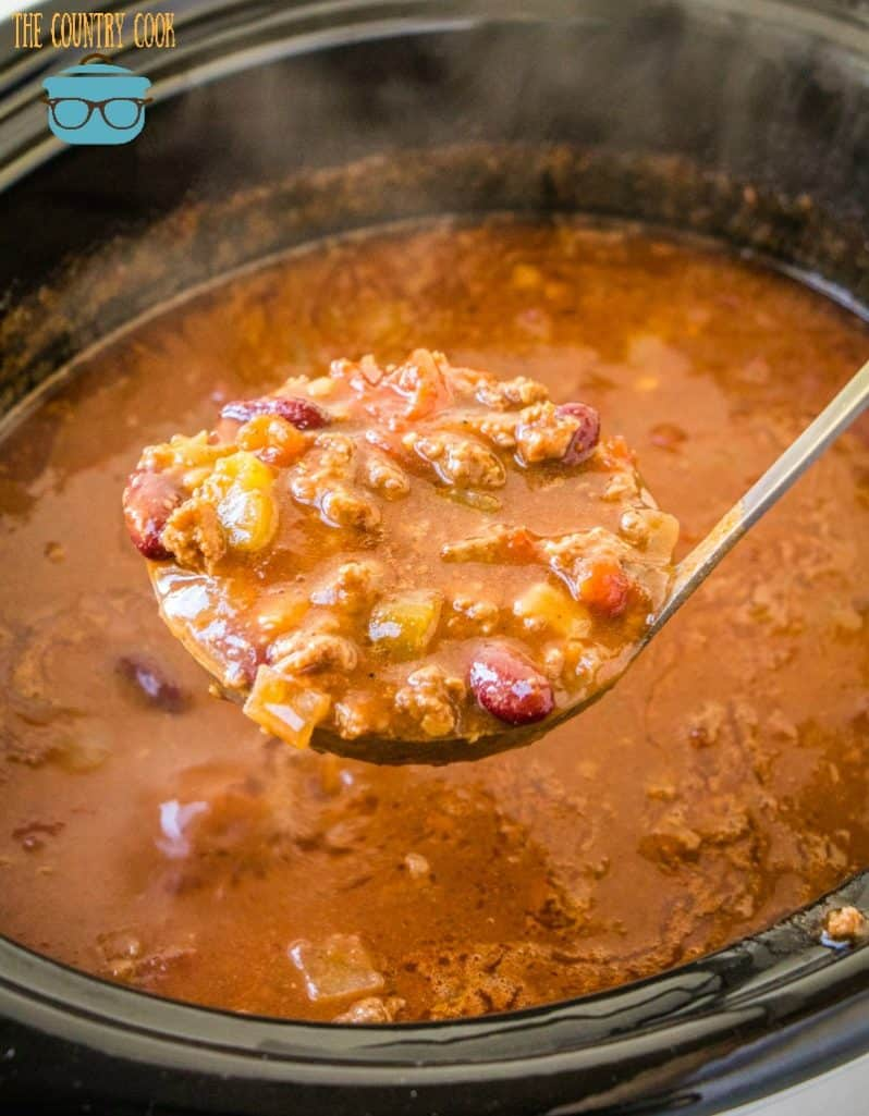 spoonful, Crock Pot Ground Beef Chili