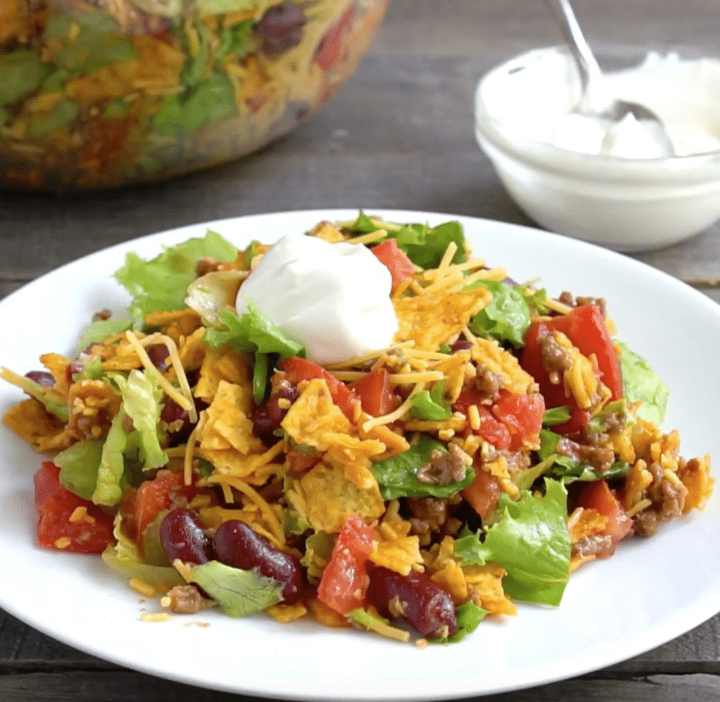 Dorito Taco Salad recipe from The Country Cook