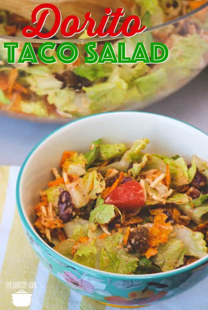 Best Dorito Taco Salad recipe from The Country Cook