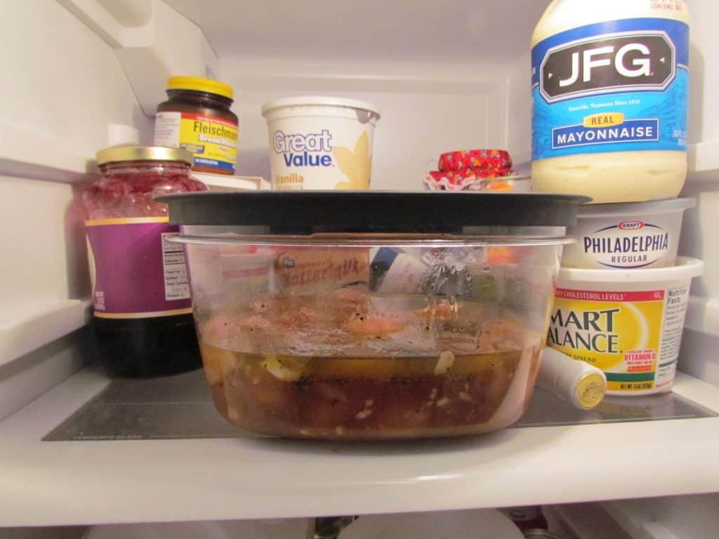 marinating chicken in refrigerator
