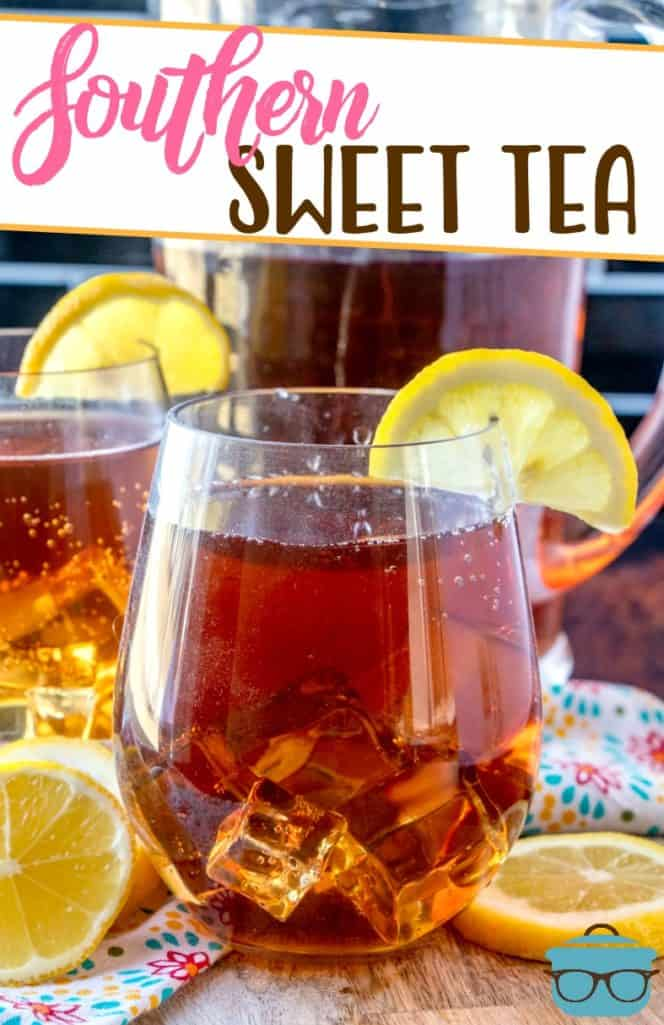 Homemade Southern Sweet Tea recipe from The Country Cook