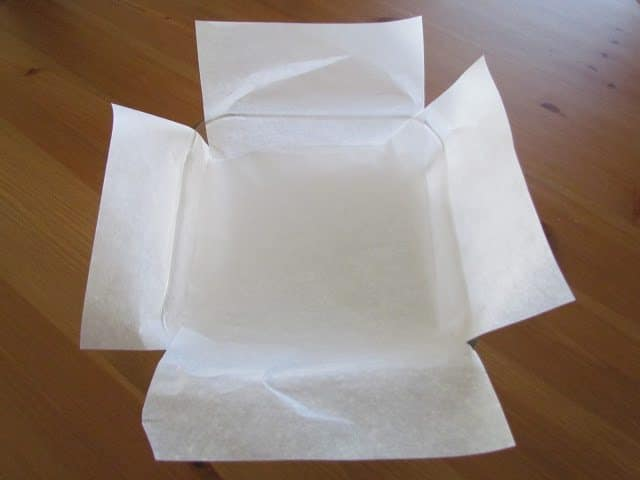 parchment paper-lined baking dish
