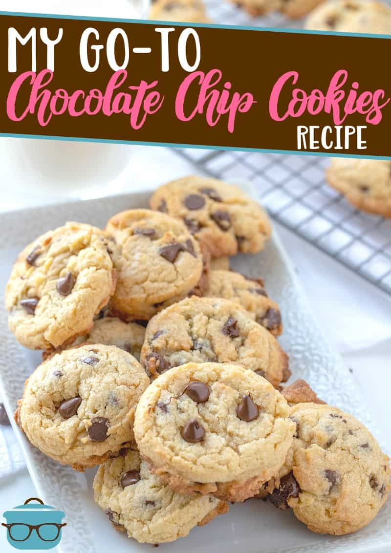 This is my Go-To Chocolate Chip Cookie recipe. It comes out perfect every single time and makes the best, soft, milk-dunking cookie!