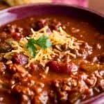 Crock Pot Chili & Sweet Cornbread