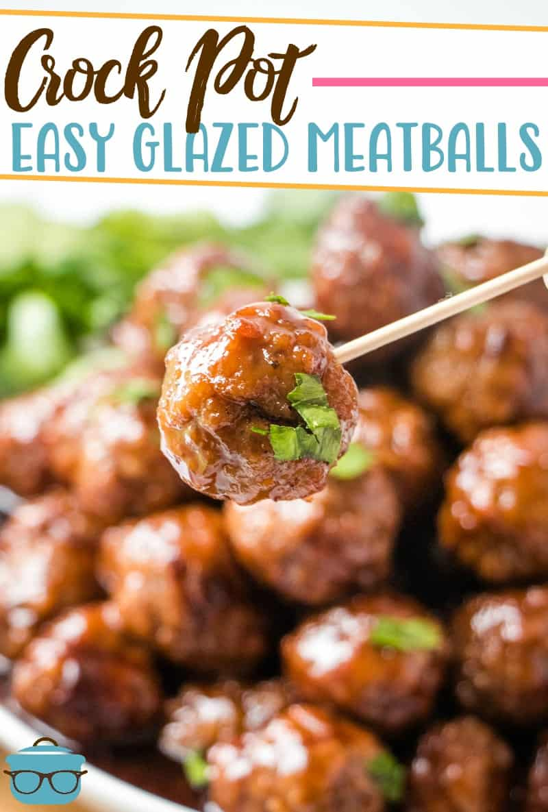 Crock Pot Glazed Party Meatballs Video The Country Cook