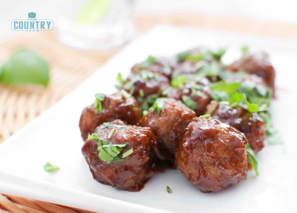 Crock Pot Glazed Party Meatballs