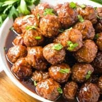 Crock Pot Glazed Party Meatballs