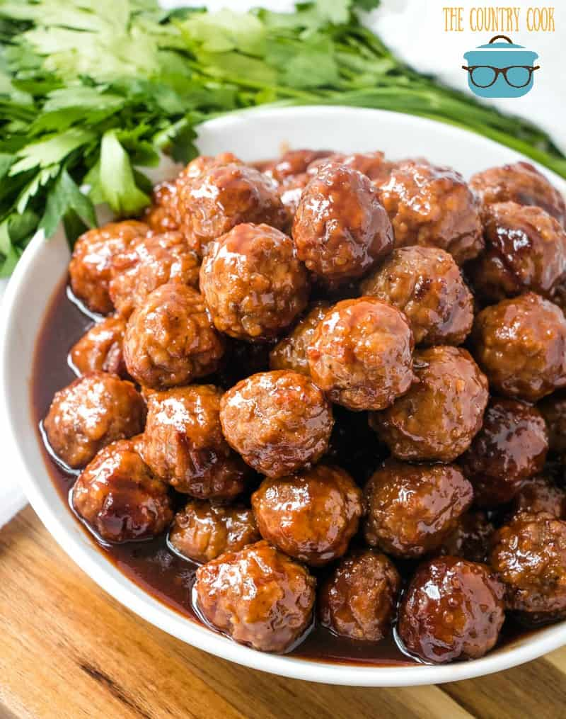 Crock Pot BBQ sauce, grape jelly meatballs