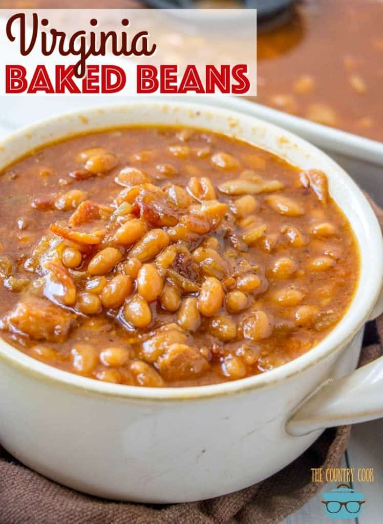 Easy Southern Virginia Baked Beans recipe from The Country Cook