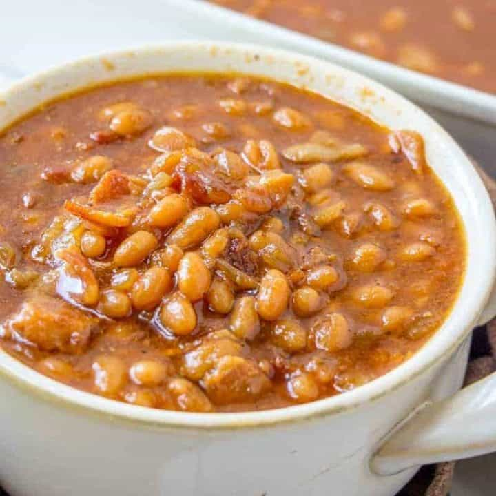 Southern Virginia Baked Beans in a bowl