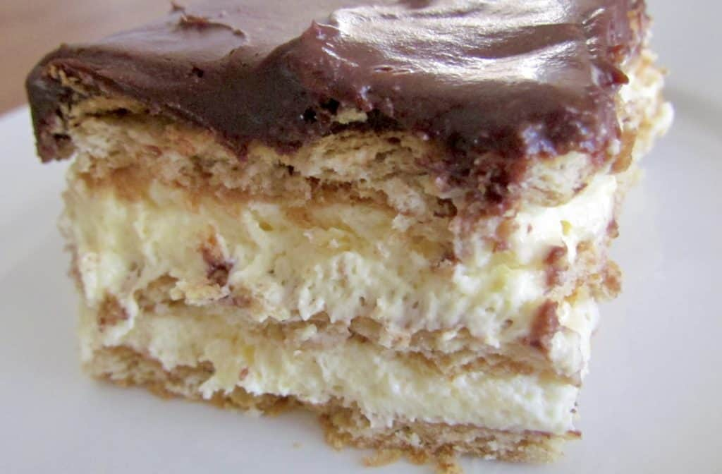 No Bake Eclair Cake recipe from The Country Cook