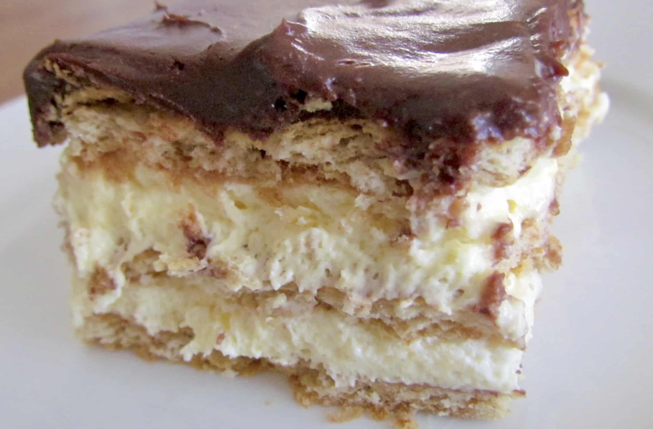 No-Bake Eclair Cake - The Country Cook