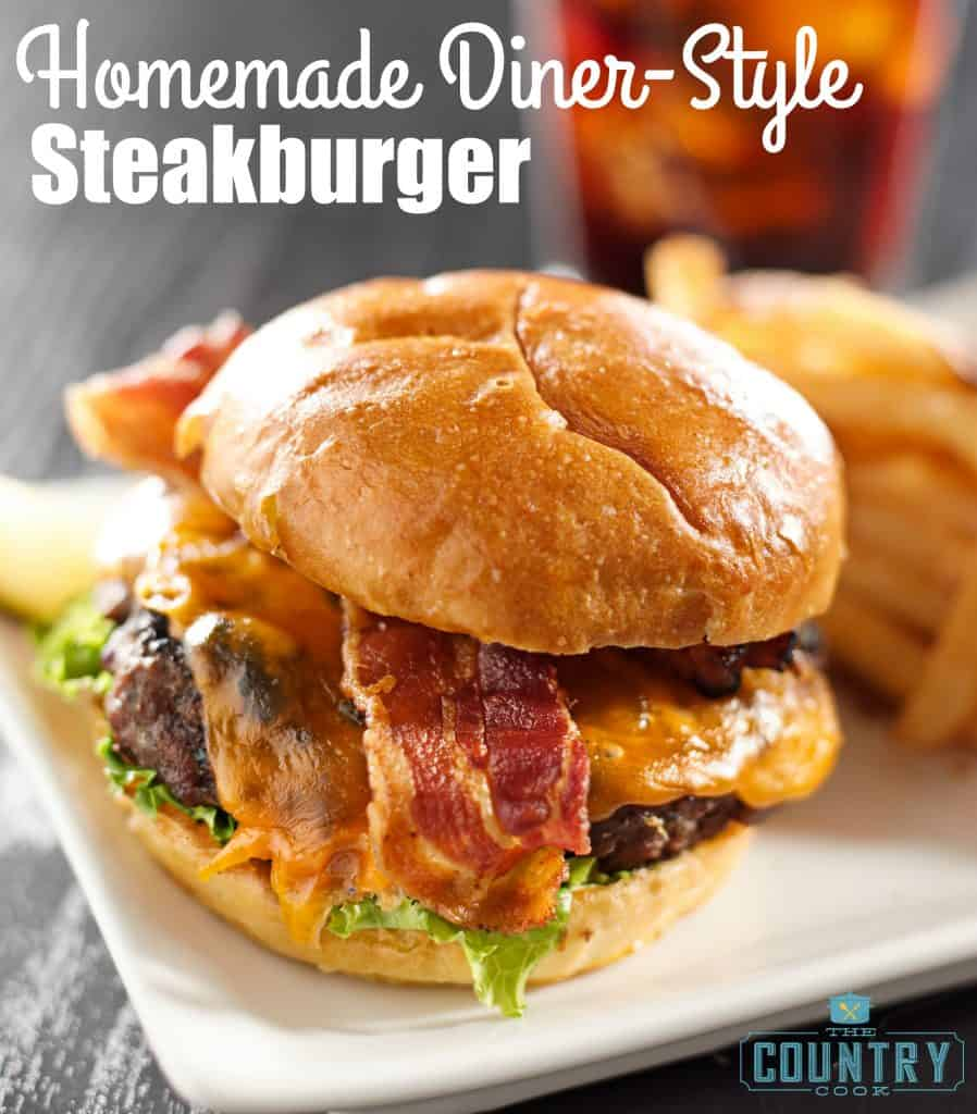 Homemade Steak Burger recipe from The Country Cook