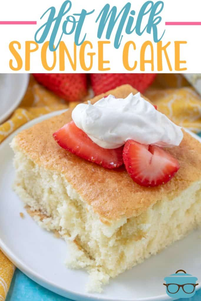 Hot Milk Sponge Cake with Strawberries recipe from The Country Cook