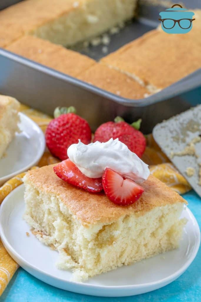 Hot Milk Sponge Cake with fresh strawberries and whipped cream