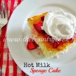 Hot Milk Sponge Cake with Strawberries