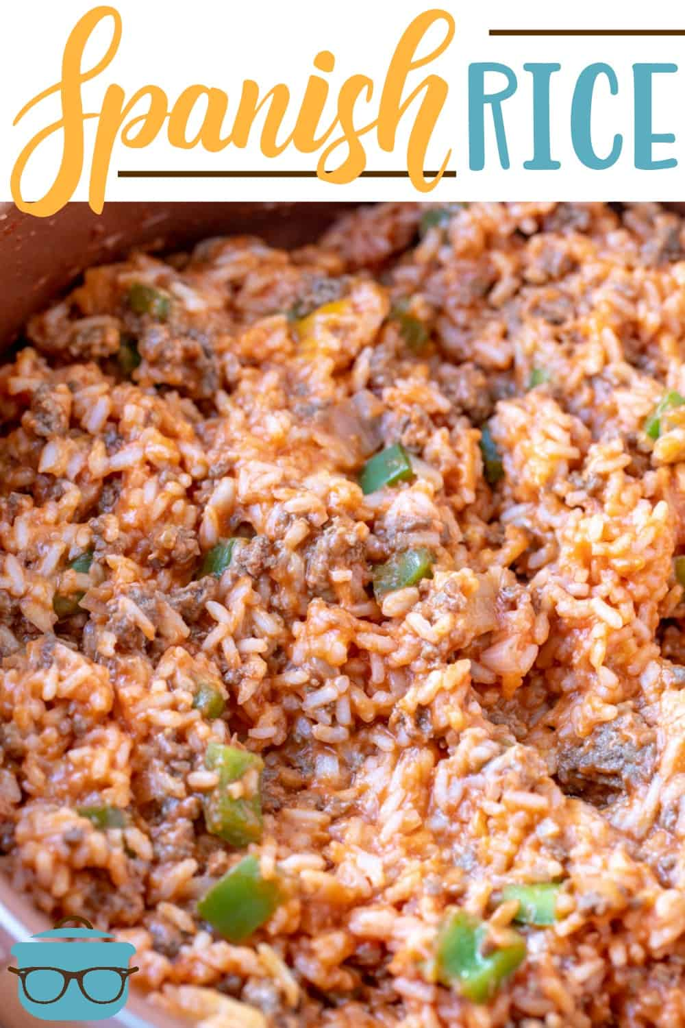 This Spanish Rice recipe is stuffed with cooked rice, tomato sauce, ground beef, peppers, onions and seasoning. Delicious comfort food! #spanishrice #groundbeef