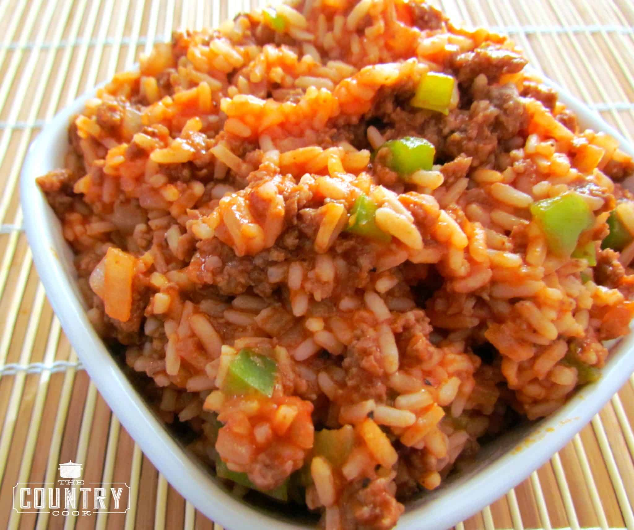 Spanish style rice the country cook cooks note my mom occasionally adds cheese to her rice to make it a bit more gooey and yummy if you are using boil in the bag rice you will need 2 bags ccuart Choice Image