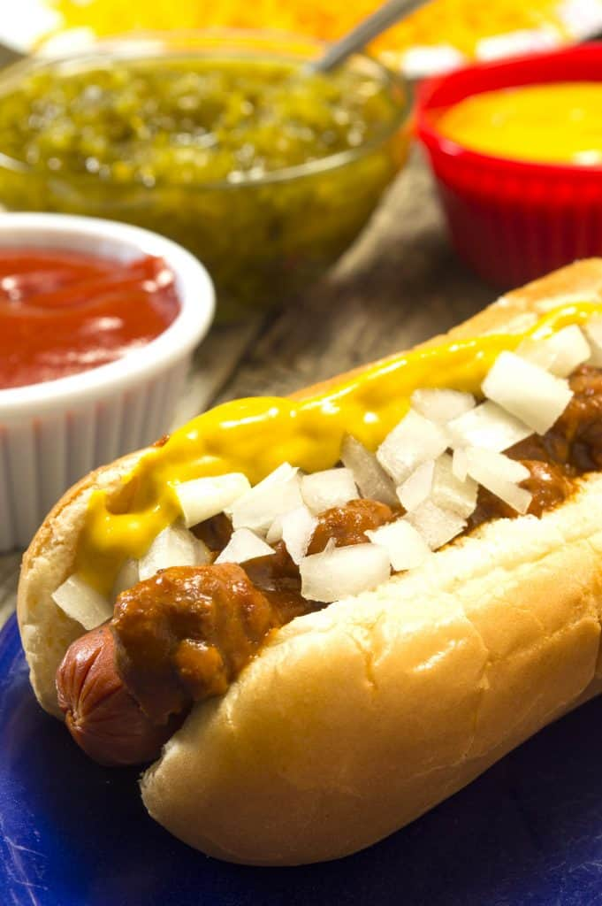 Crock Pot Homemade Southern Style Hot Dog Chili with ground beef