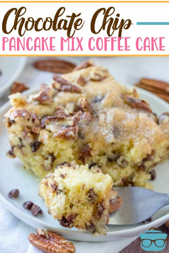 Chocolate Chip Pancake Mix Coffee Cake recipe from The Country Cook