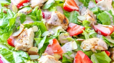 Strawberry Chicken Salad with Raspberry Poppyseed Vinaigrette