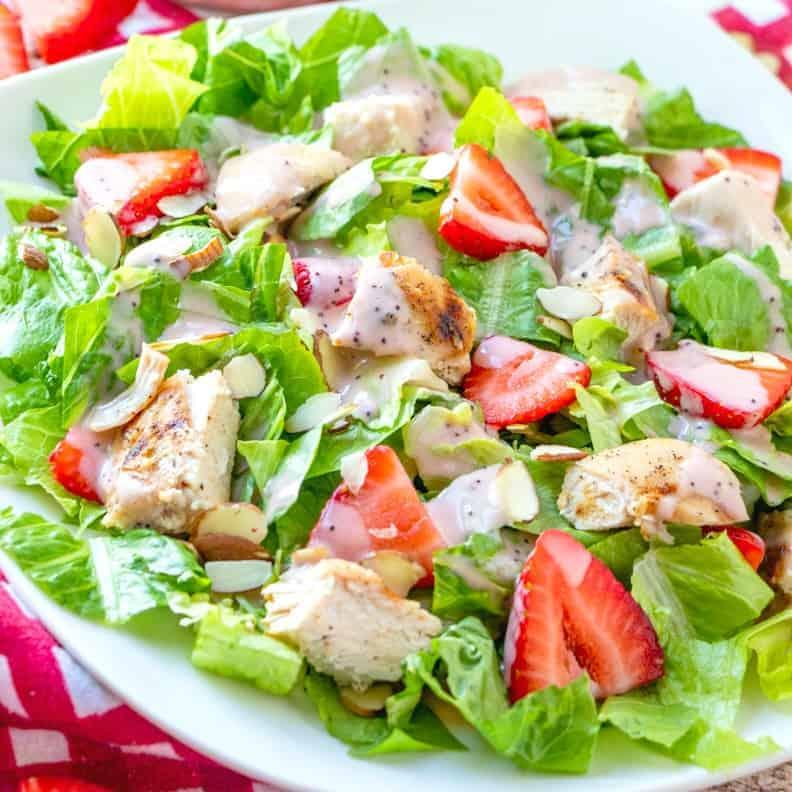 Strawberry Chicken Salad with Raspberry Poppyseed Vinaigrette