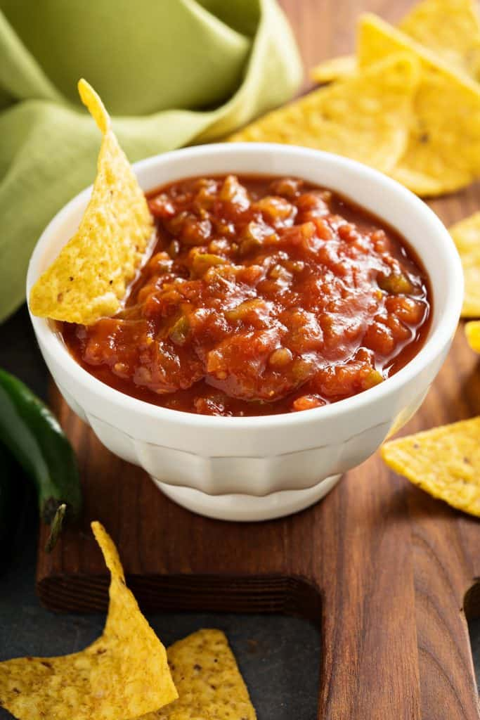 Restaurant Style Salsa recipe from The Country Cook