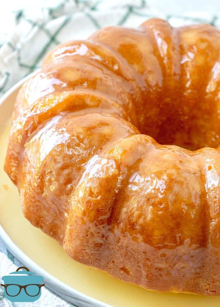 Buttered Rum Cake on a plate