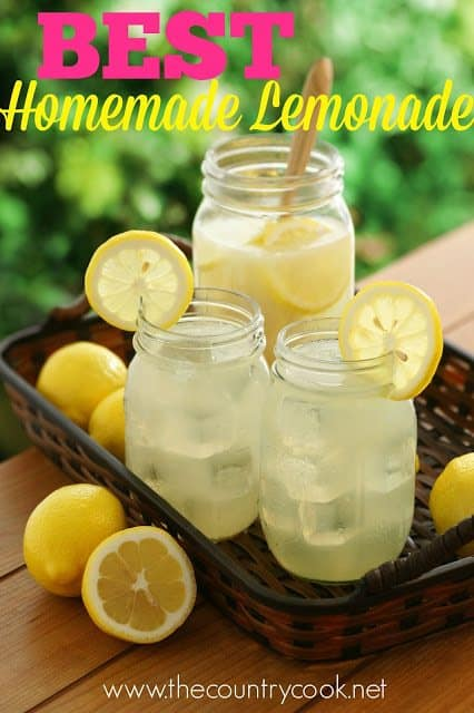 Best Homemade Lemonade recipe from The Country Cook