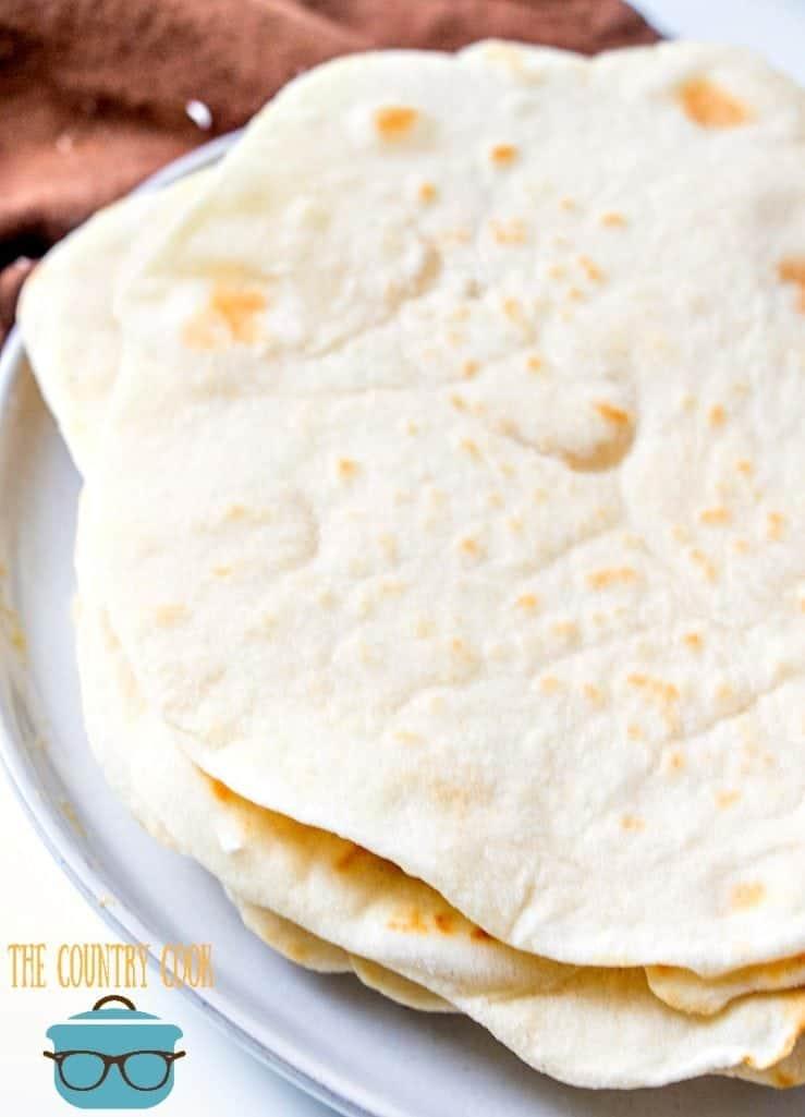 easy light and fluffy homemade flour tortillas