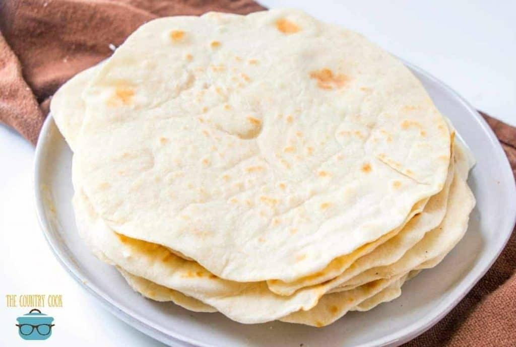 light and fluffy homemade flour tortillas