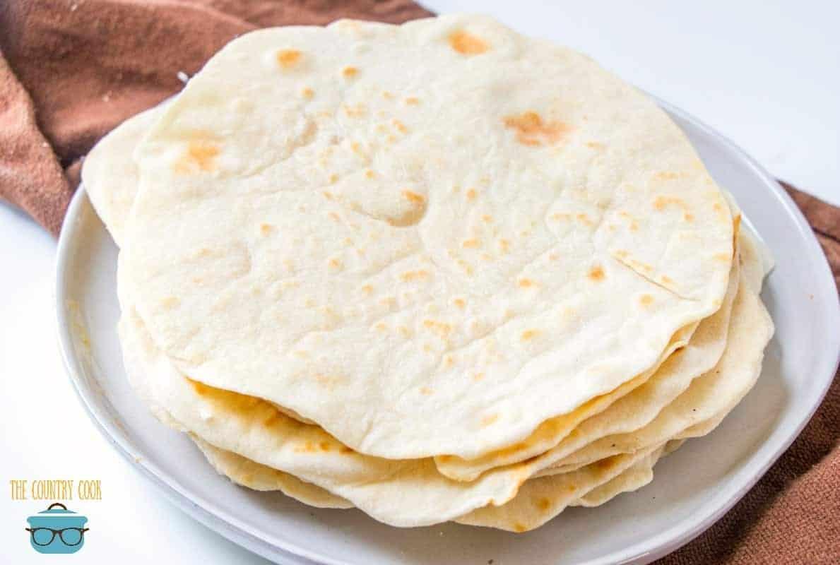 light and fluffy homemade flour tortillas recipe
