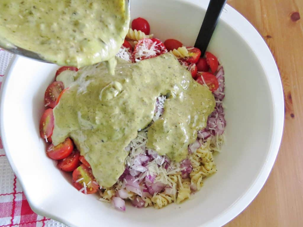 Caesar Basil Pasta Salad