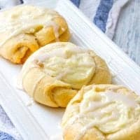 Crescent Roll Cheese Danishes recipe