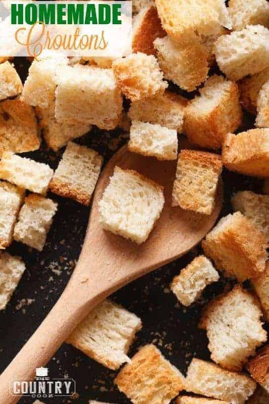 Homemade Croutons recipe from The Country Cook