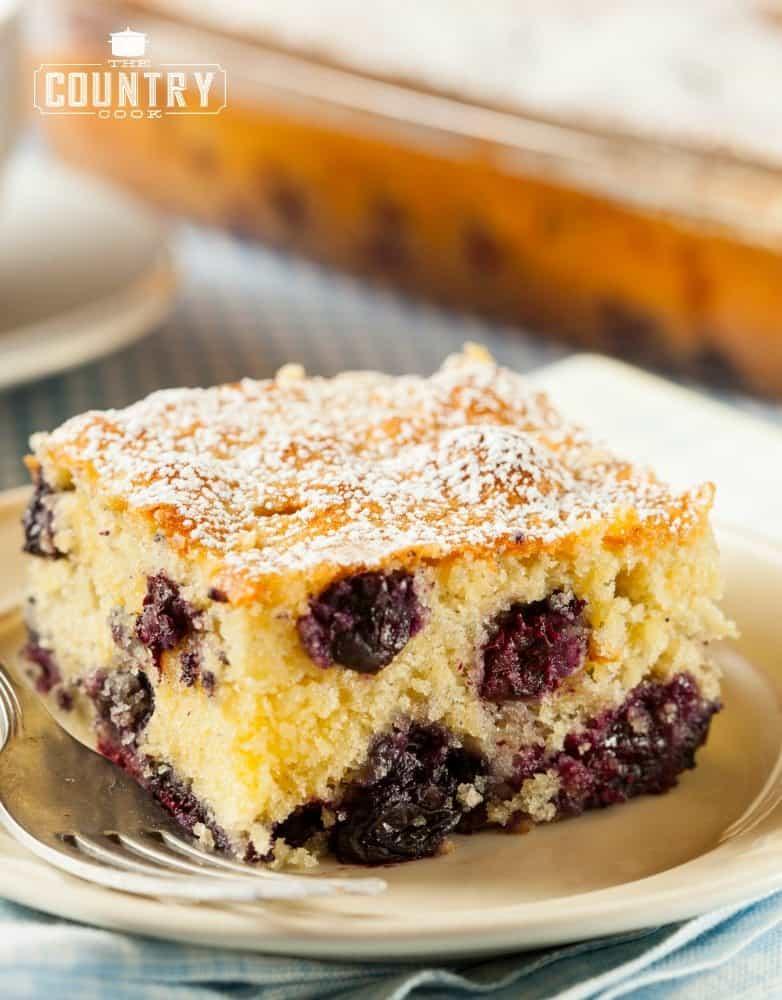 Blueberry Cake Using Sour Cream