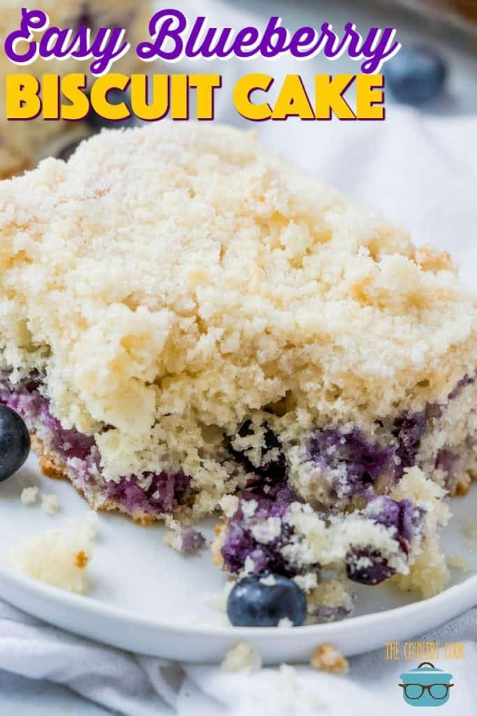Easy Blueberry Biscuit Cake recipe from The Country Cook