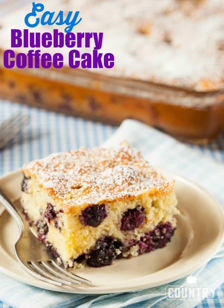 Easy Blueberrry Coffee Cake recipe
