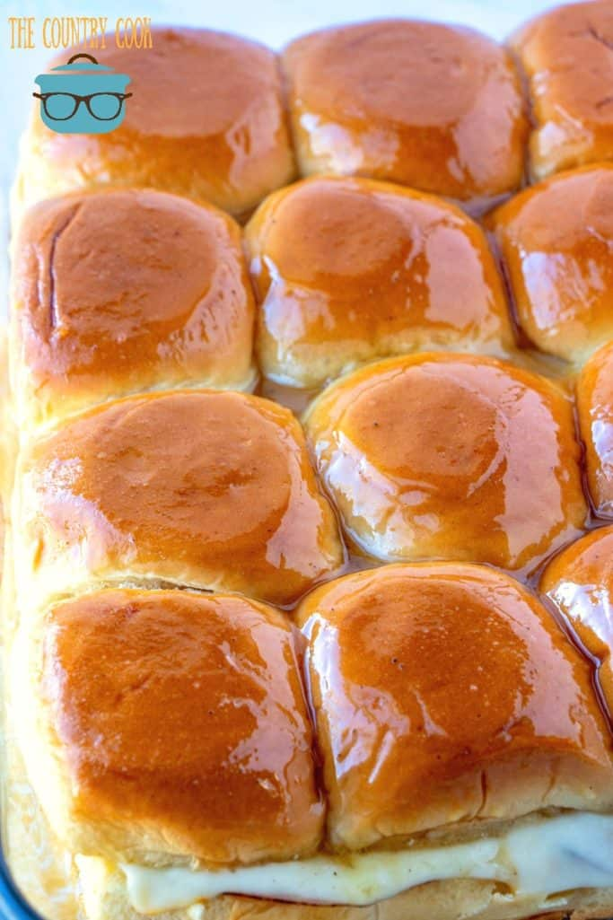fully cooked, Hawaiian Ham and Cheese Party Rolls with special sauce