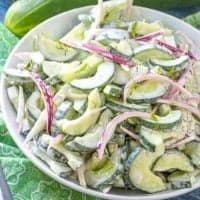 Creamy Cucumber Dill Salad recipe from The Country Cook