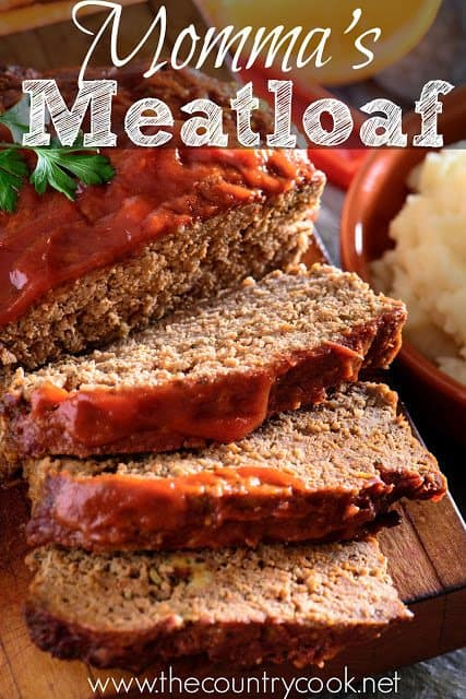 Momma's Best Meatloaf recipe from The Country Cook