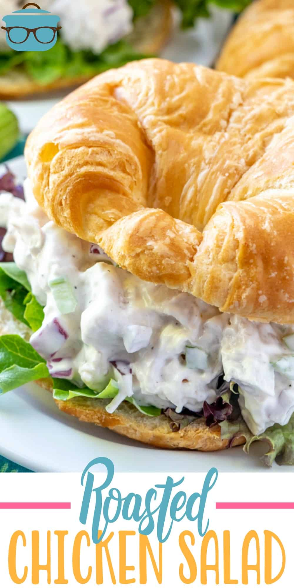 Easy Roasted Chicken Salad is the best chicken salad recipe ever. Mayonnaise, celery, onions and special seasoning makes this a huge favorite! #chickensalad #sandwich