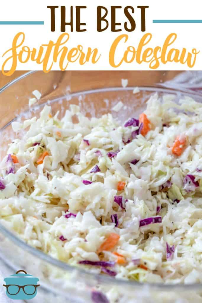 The Best Southern Coleslaw recipe from The Country Cook