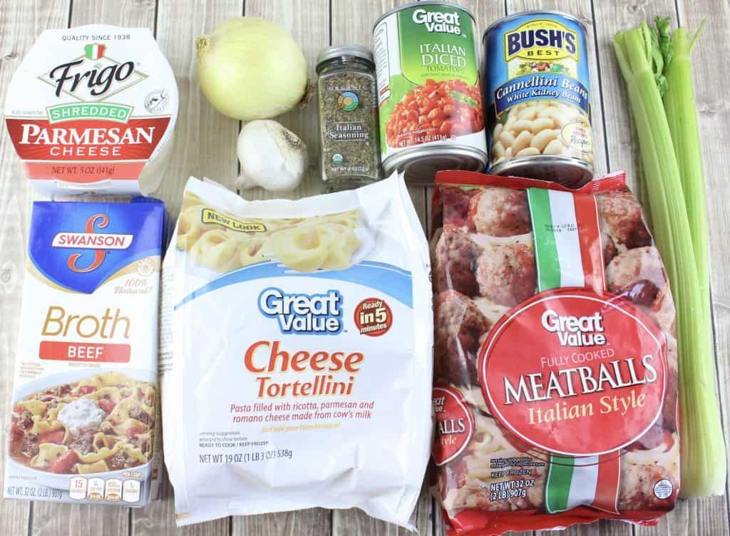 ingredients for crock pot tortellini soup