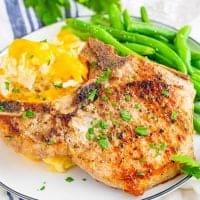 Baked Hash Brown Pork Chop Casserole recipe