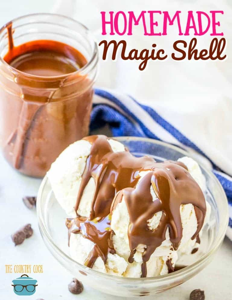 Homemade Chocolate Magic Shell recipe from The Country Cook