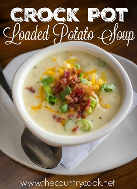 Crock Pot Loaded Potato Soup