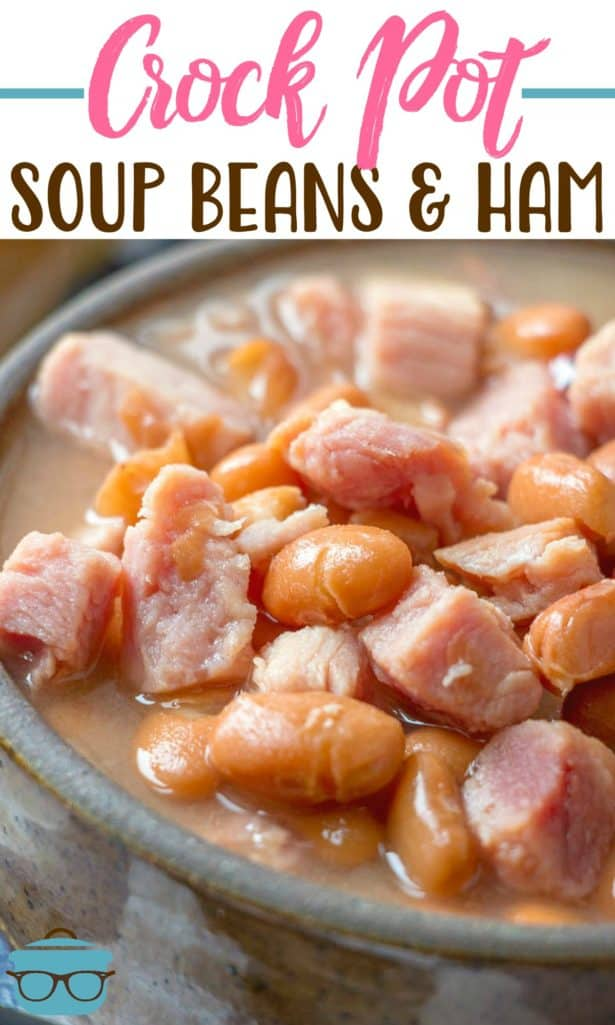 Crock Pot Soup Beans and Ham recipe from The Country Cook