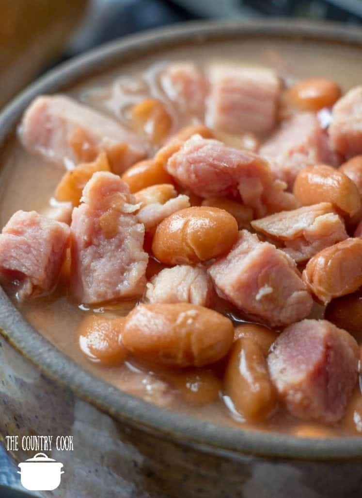Easy Crock Pot Pinto Beans and Ham recipe